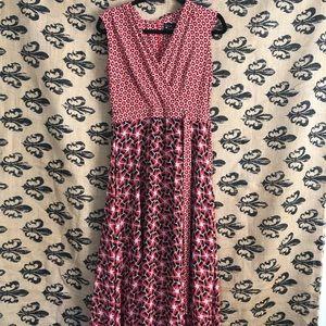 {Just Taylor} maxi dress geometric print